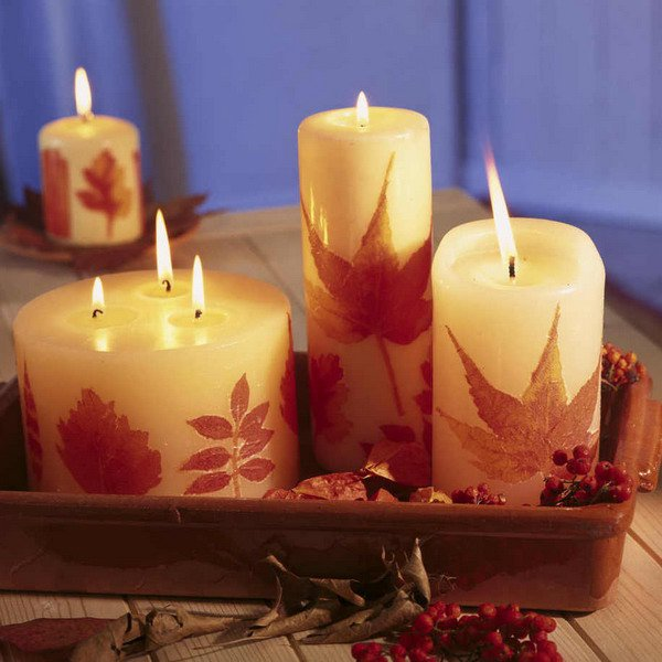 Fall candle decor