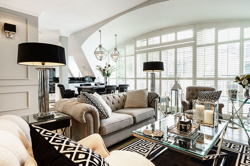 Glamorous interior design fit for a Queen or King