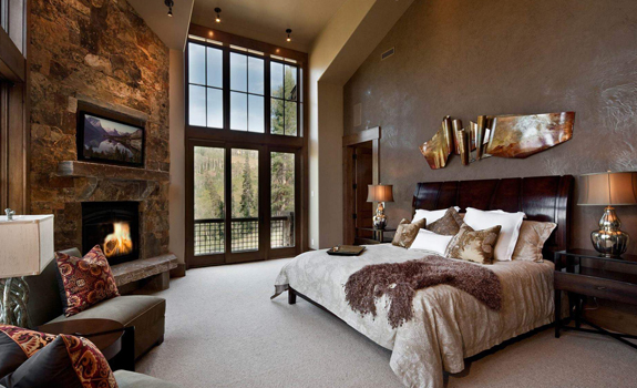 Beautiful rustic bedroom design