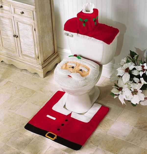 Santa Toilet Set