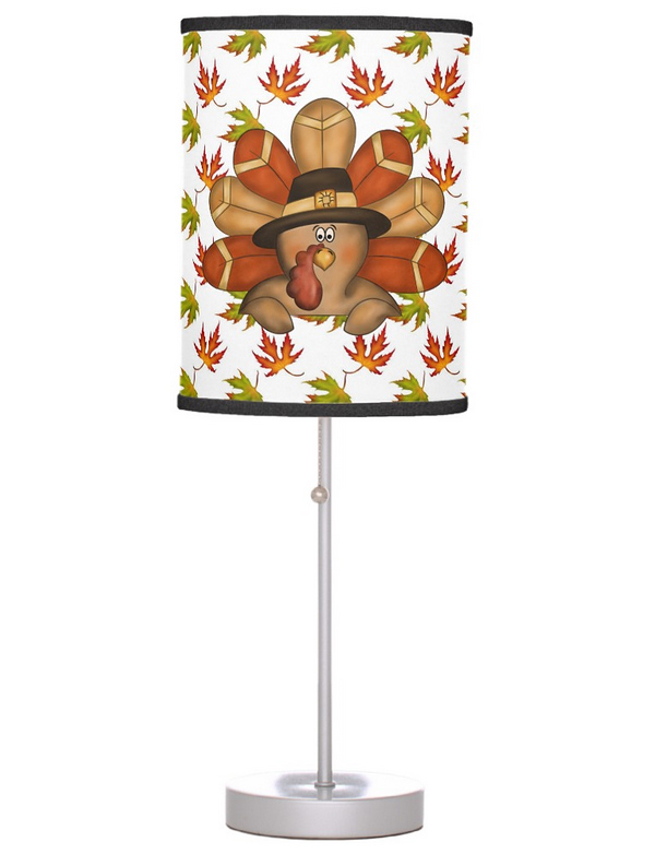 Cute Thanksgiving Table Lamp