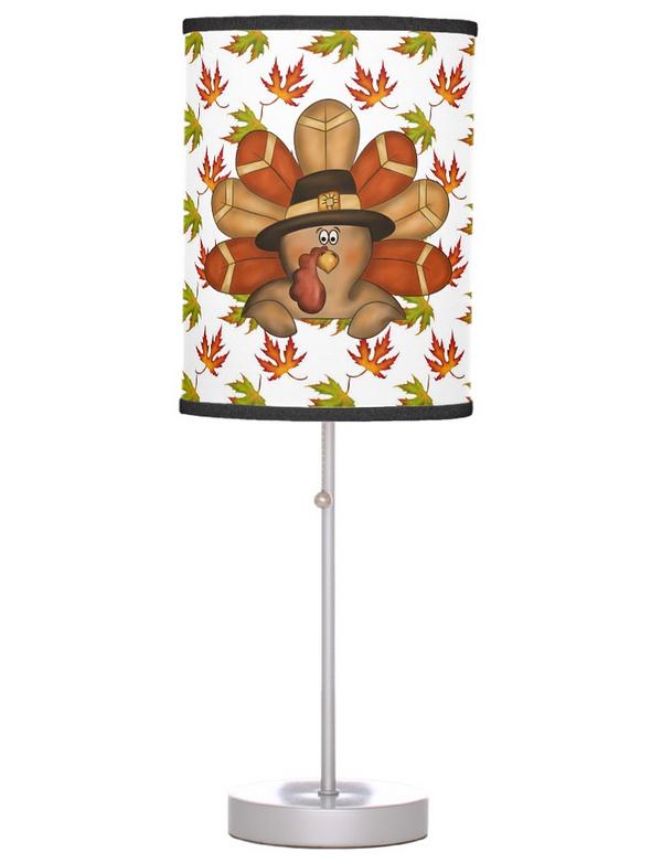 Cute Thanksgiving Table Lamp