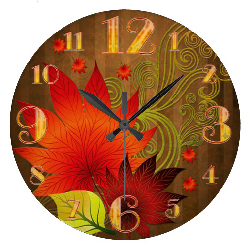Thanksgiving Wall Clock