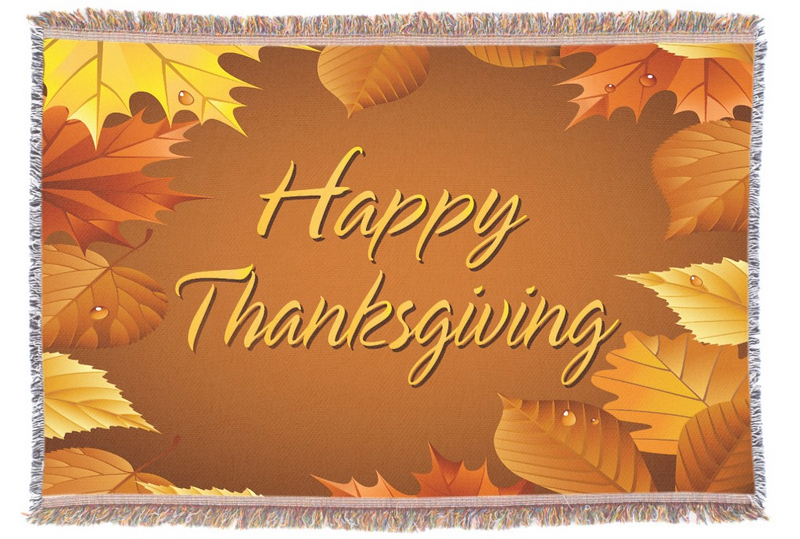 Thanksgiving throw blanket
