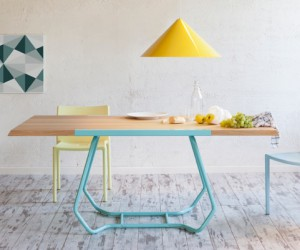 Ultramodern double-facing dining table