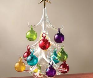 Whimsical glass Christmas tree