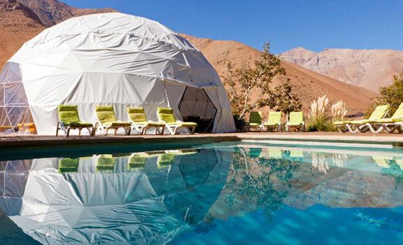 Inviting and inspiring: geodesic yurts in the Atacama desert