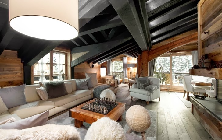 Amazing chalet design in the French Alps