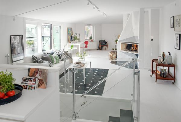 Contemporary and eclectic attic duplex