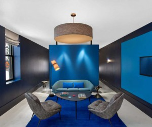 Painting in 3D: colorful boutique hotel in New York