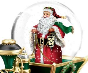 Christmas collectibles: musical snow globe train