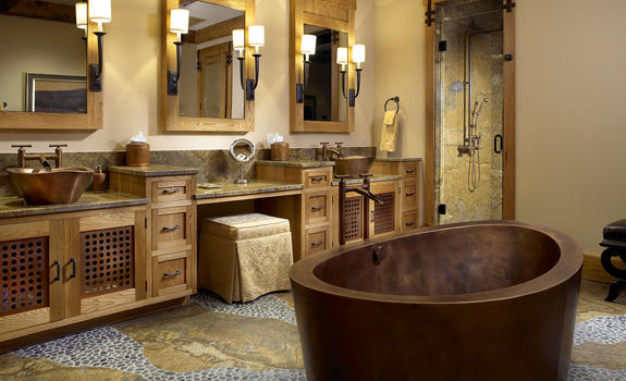Luxury rustic style bathroom