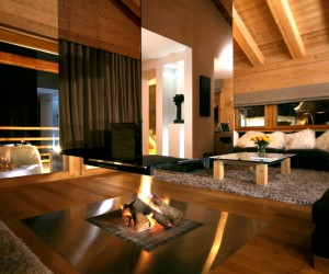 Spaces to unwind: luxurious spa chalet in Switzerland