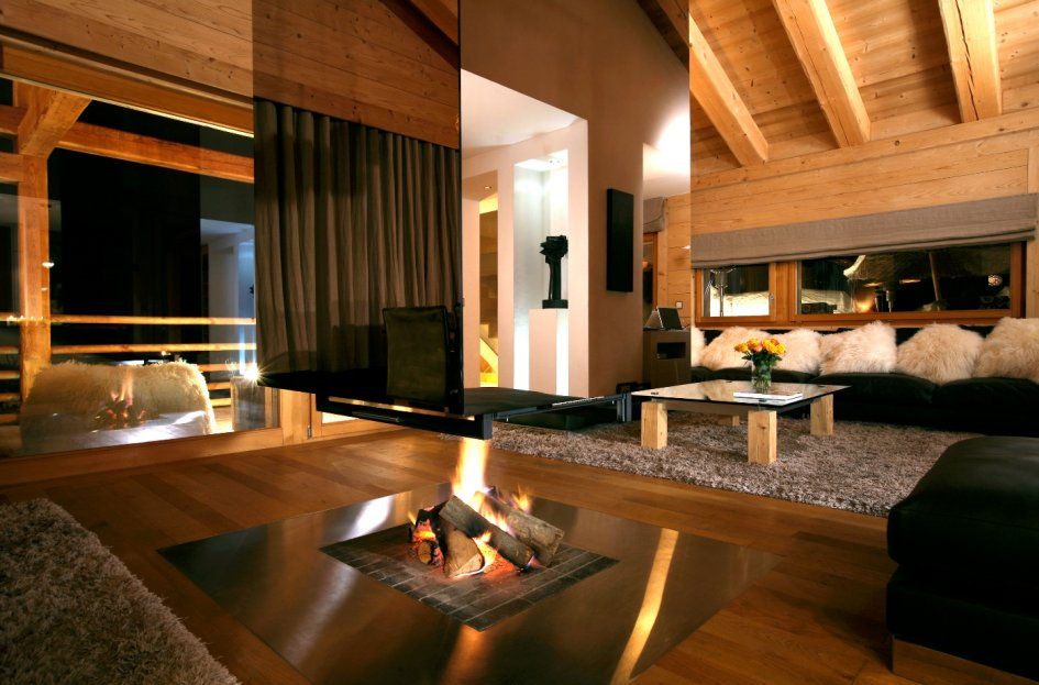 Spaces to unwind luxurious spa chalet Switzerland