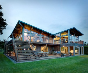Contemporary but cozy two story family residence