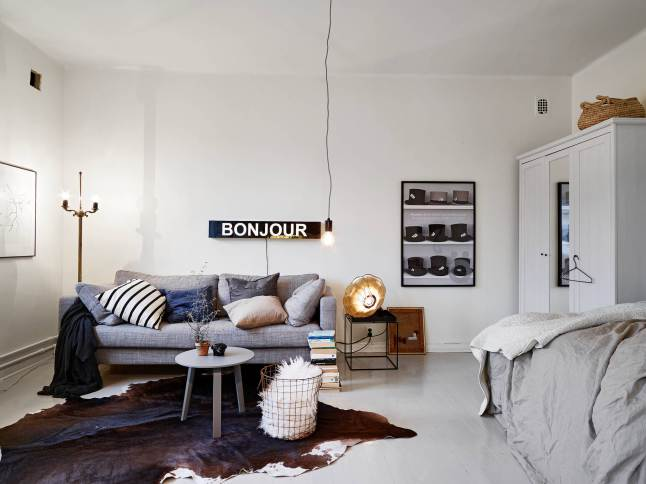 White small apartment swedish style