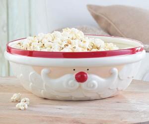 Cheerful Santa serving bowl