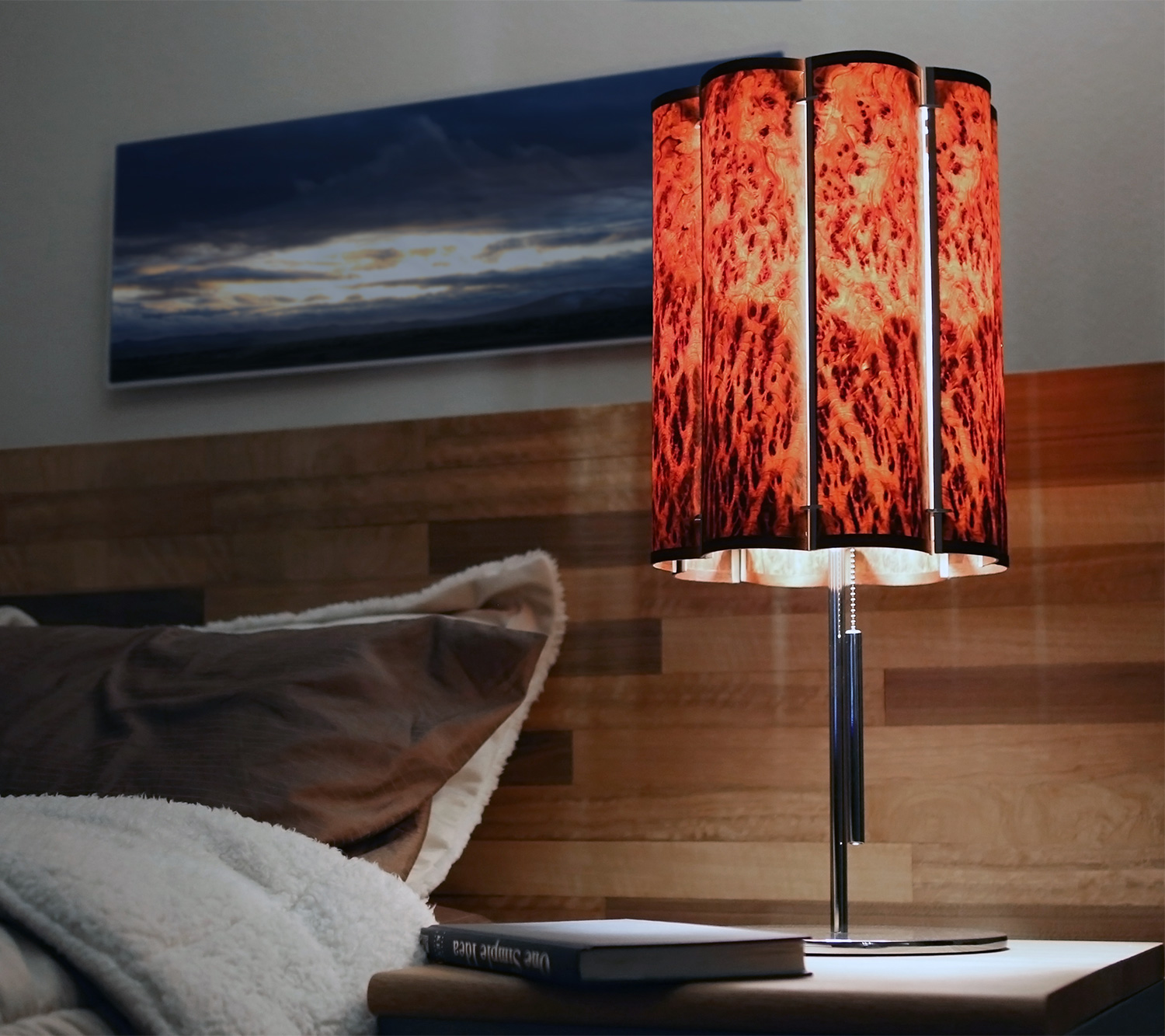 Elegant contemporary wood lamps