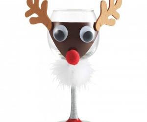 Christmas party favorites: Reindeer wine glass