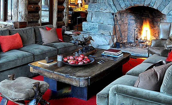 This rustic ski lodge is the perfect winter getaway