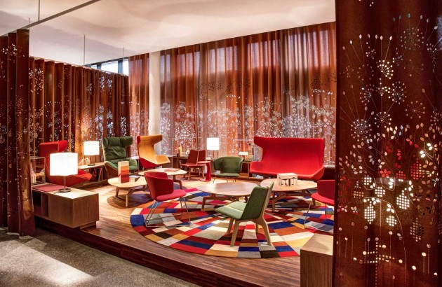 Vivid hotel design in Switzerland