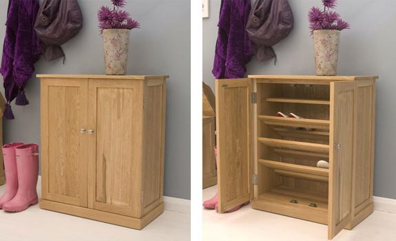 Wooden shoe cupboard