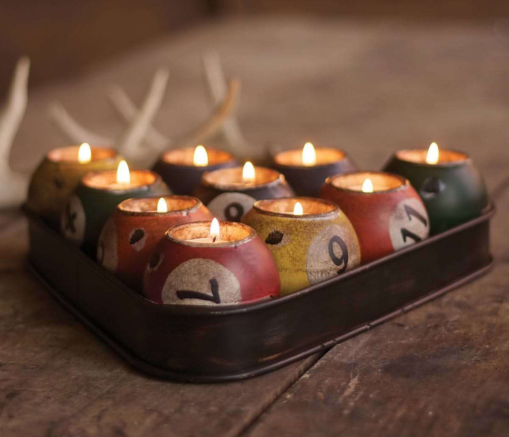 Clever Pool Ball Candle Holder