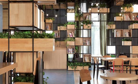 Repurposed café design in Beijing