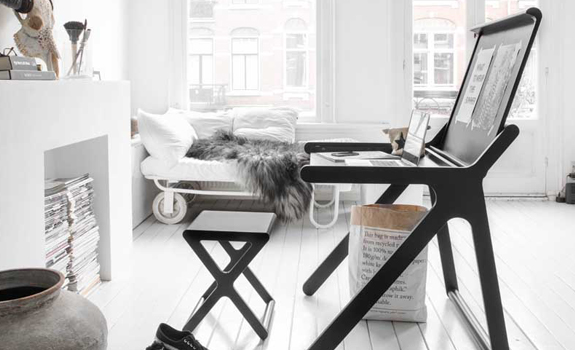 Scandinavian Style Desk and Stool