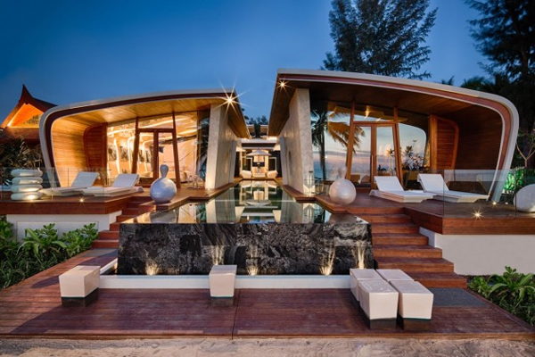 Stunning villas at this luxury beach hotel