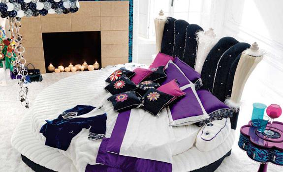 Round Feminine Bedroom