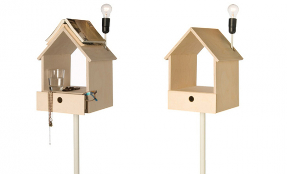 'Nighthouse by Night' birdhouse bedside table