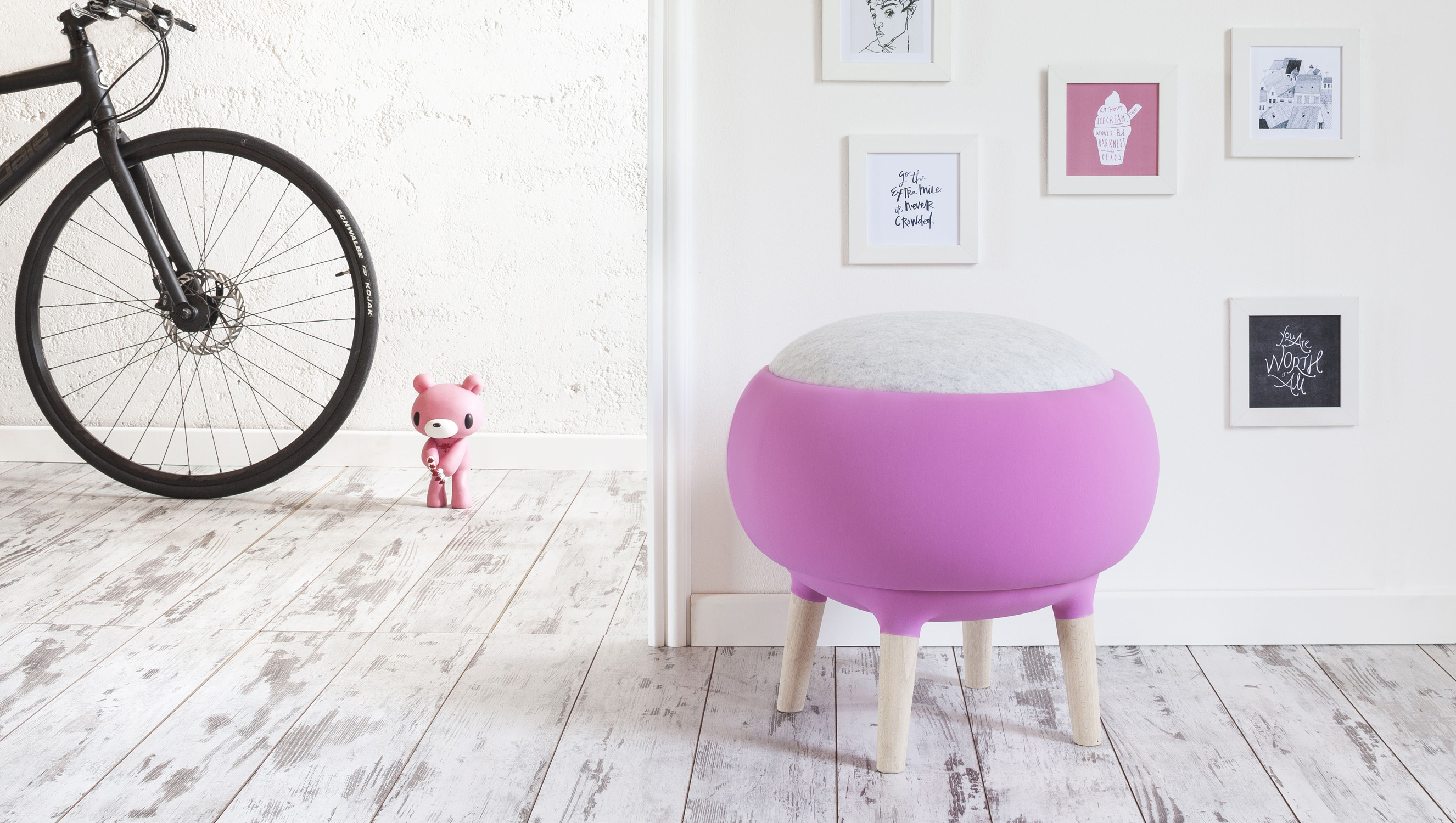 Steeped in the contemporary: the Cora modern pouf