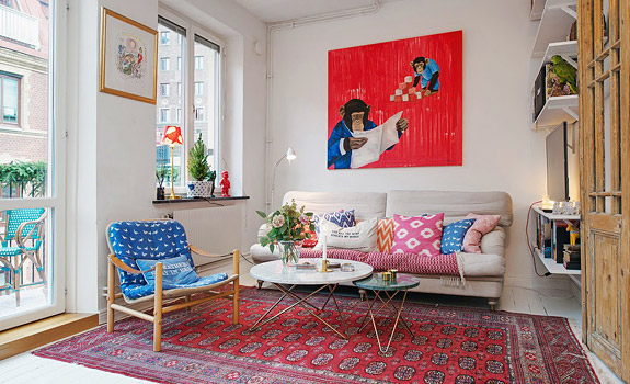 Eclectic Scandinavian Living Room