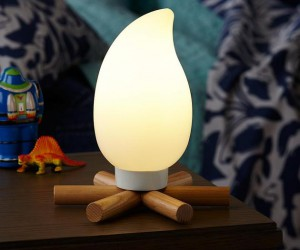 Fire up the night with a campfire table light