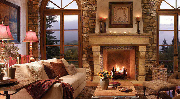 Cozy traditional living room
