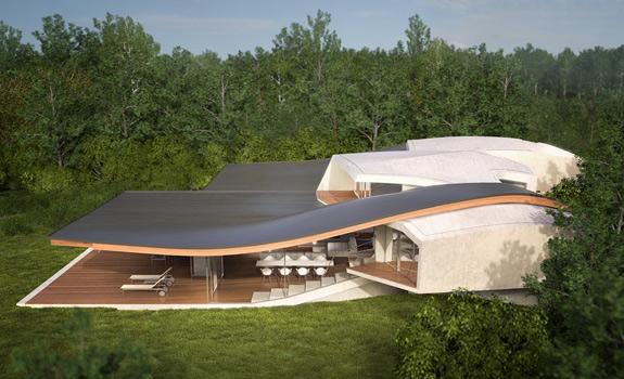 Futuristic House Architecture: House Birkensee