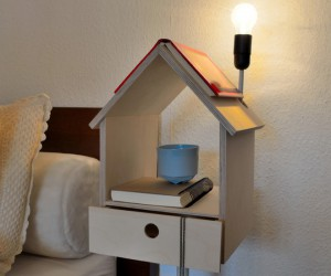 Modern flights of fancy: 'Nighthouse by Night' birdhouse bedside table