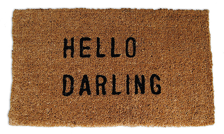 Hello Darling Flirty Welcome Mat