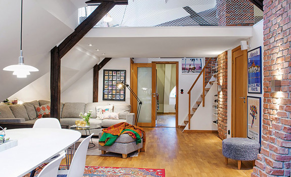 Modern Attic Apartment in Gothenburg, Sweden