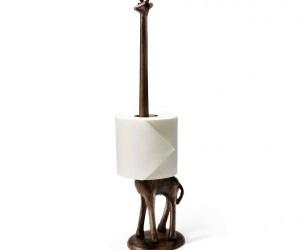 Safari meets toilet paper holder