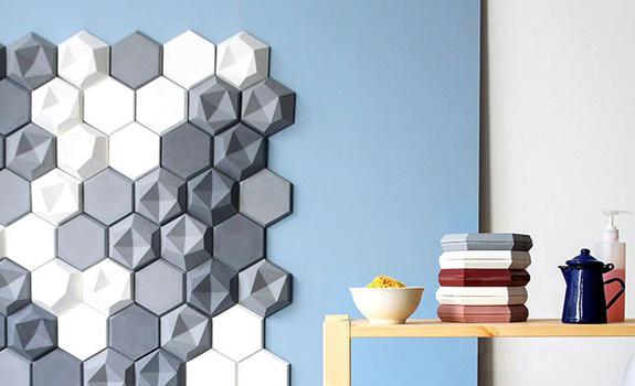 Modern concrete tiles