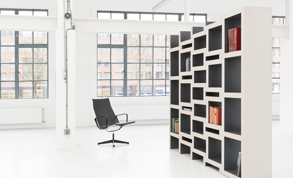 Zigzag Shaped Bookcase
