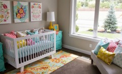 Colorful nursery design