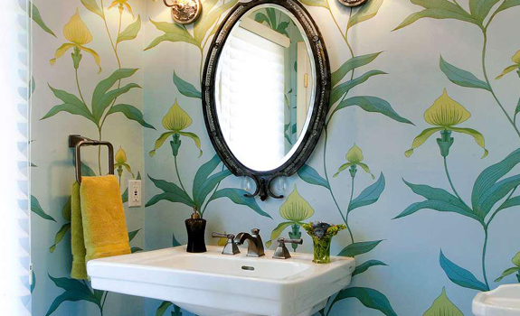 Colorful Powder Room Design