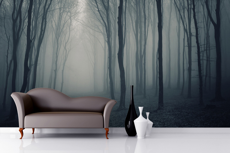 Grey-Mist-Forest-Wall-Mural