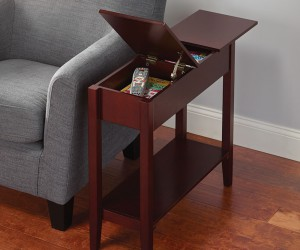 Living room essentials: hidden storage table