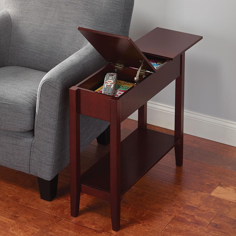 Living room essentials: hidden storage table