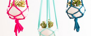 How to make a macramé hanging planter