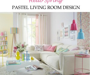 Pastel living room design just in time for spring